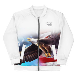 all over print unisex bomber jacket white front 60cadbc9dcf64