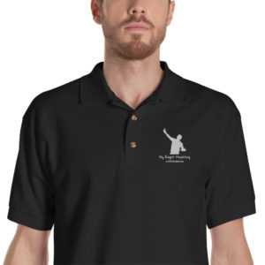 classic polo shirt black zoomed in 60cadf12b425a