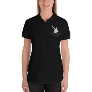 premium polo shirt black front 60cade7d90743