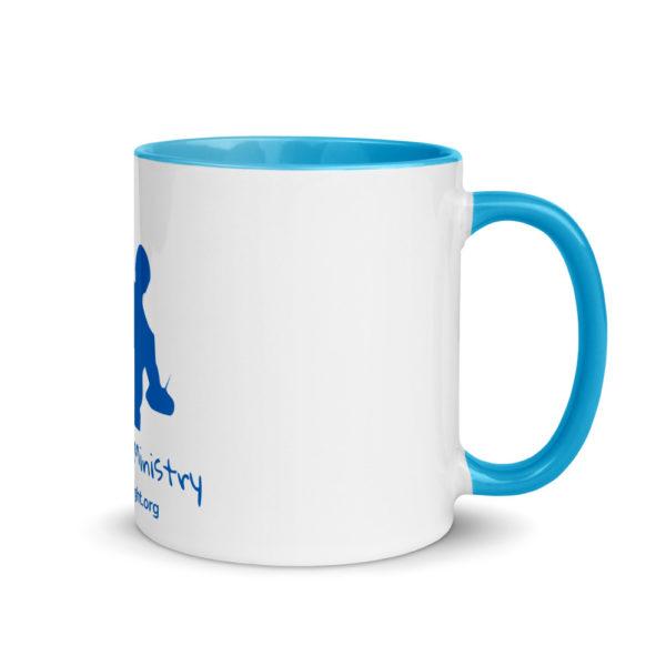 white ceramic mug with color inside blue 11oz right 60cadfad9863f