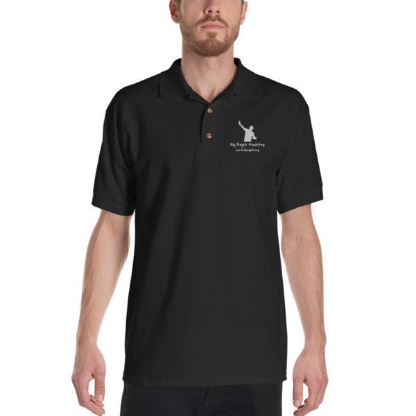 classic polo shirt black front 60f665fd3db56