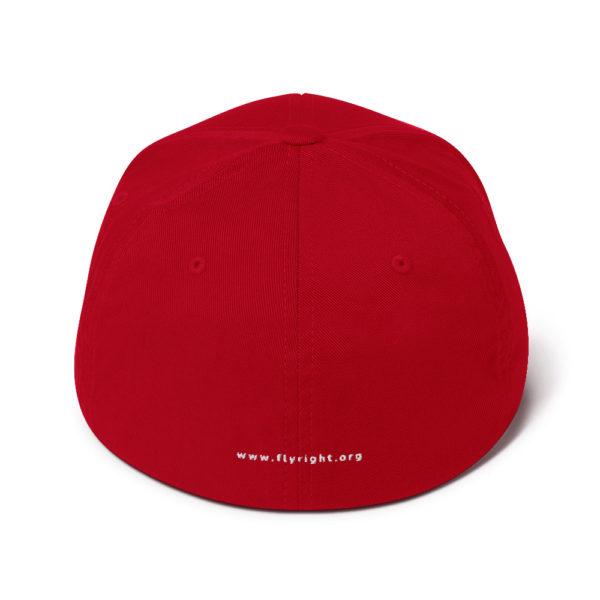 closed back structured cap red back 60f66306bdfaf