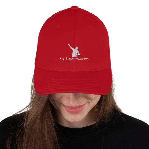 closed back structured cap red front 60f66306bd9c2