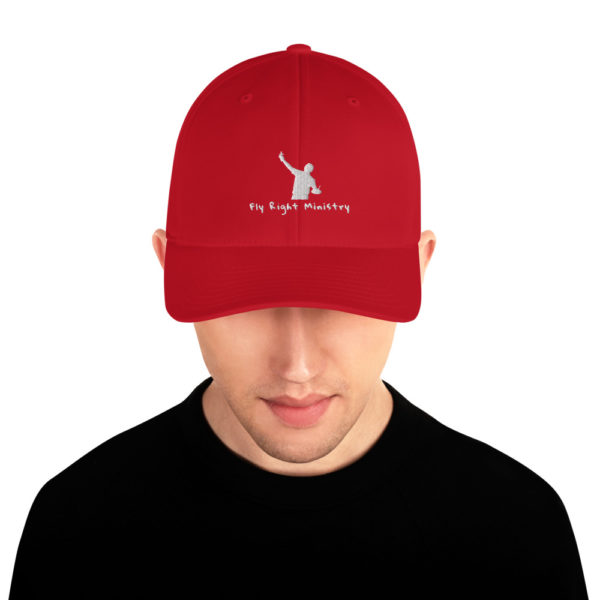 closed back structured cap red front 60f66306bdb2e