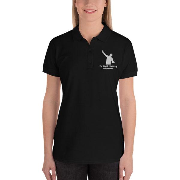 premium polo shirt black front 60f66c1a058d3