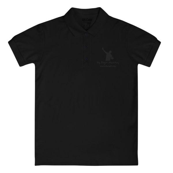 premium polo shirt black front 60f66c63bdd02
