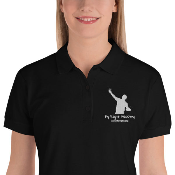 premium polo shirt black zoomed in 60f66c1a0575b