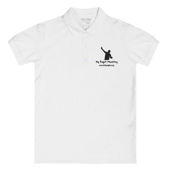 premium polo shirt white front 60f66c63bda2a